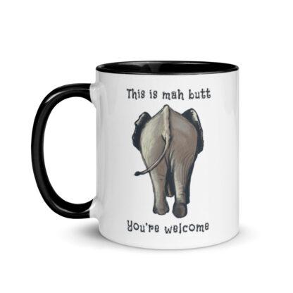 Elephant butt mug