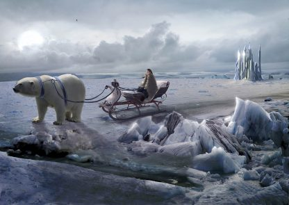 Tandor with his sled outside the City of Glass